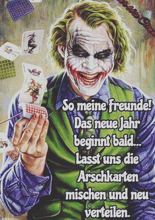 Karikatur Kartenspieler