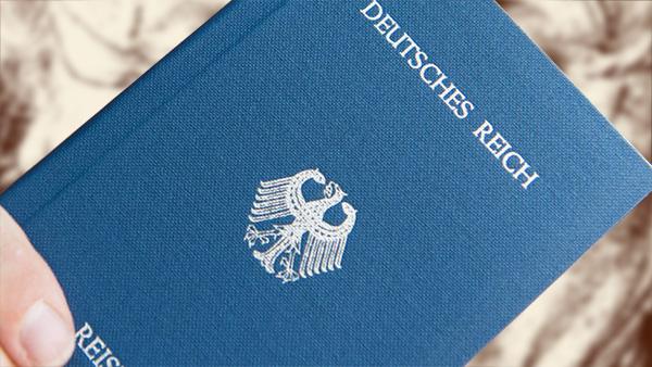 Foto Deutscher Reichsbürger Reisepassn