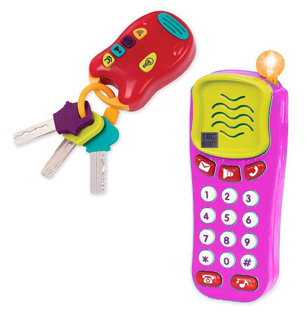 Foto Spielzeughandy mit Schlüsselanhänger